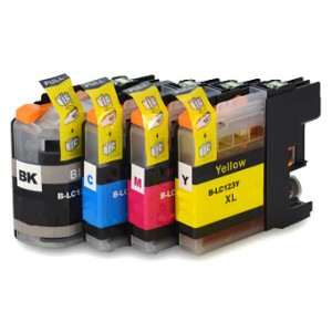 Compatible Brother LC123XL 4-PACK