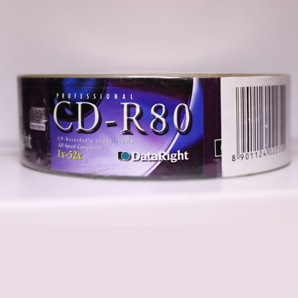 PROFESSIONAL DATARIGHT CD-R80 Recordable 80min 700MB 52x 25PCS