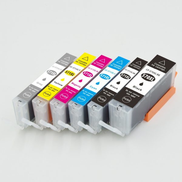 Compatible Canon PGI-570PGBK XL / CLI-571XL (6-Pack)