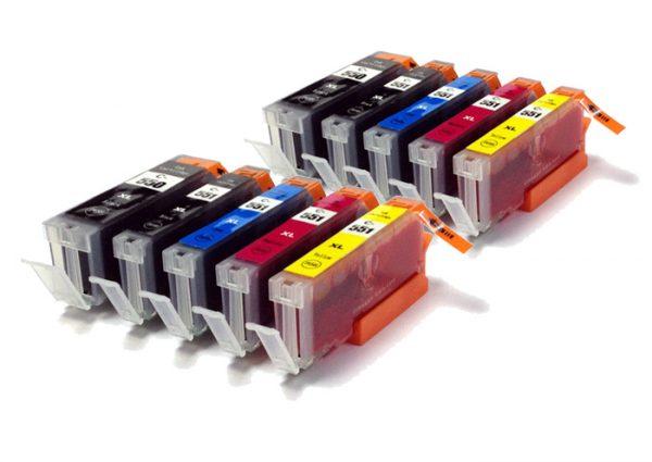 Compatible Canon PGI-550PGBK XL/CLI-551XL 10-PACK