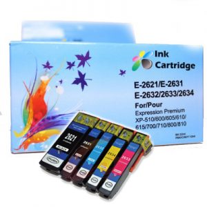 COMPATIBLE EPSON INK CARTRIDGES T2621/31/32/33/34 BK/PB/C/M/Y *5 MULTIPACK