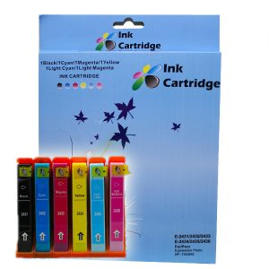 COMPATIBLE EPSON INK CARTRIDGES T2431/2/3/4/5/6 BK/C/M/Y/LC/LM *6 MULTIPACK
