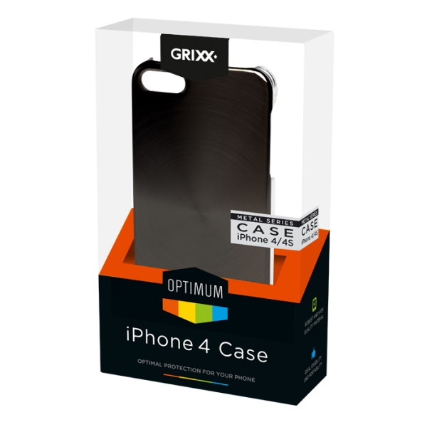 For iPhone 4/4S GRIXX Metal look case