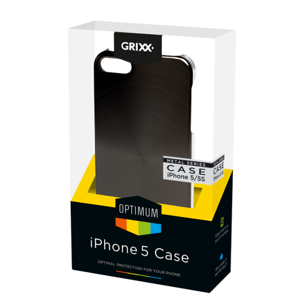 For iPhone 5/5S GRIXX Metal look case
