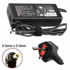 TOSHIBA COMPATIBLE LAPTOP POWER SUPPLY, 19V, 3.95A, 75W, 5.5 x 2.5mm tip
